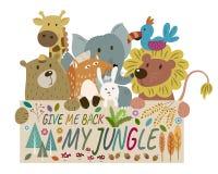 Jungle Animals stock illustration