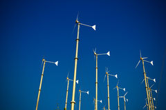 Group of wind turbine generator Stock Images