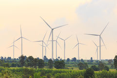 Group of Wind Turbine Generator Royalty Free Stock Image