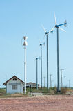Group of wind turbines. Royalty Free Stock Images