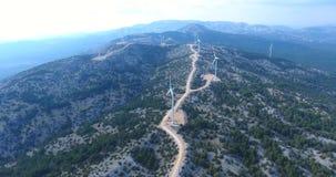 Group of Wind Turbines  Footage, Turkey stock video footage