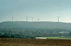 Group of wind turbines Stock Photo