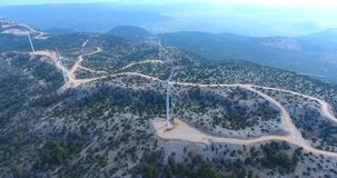 Group of Wind Turbines Poi Footage, Turkey stock footage