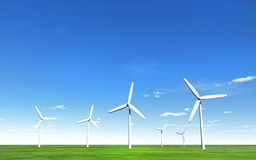 Group of Windmills Royalty Free Stock Images