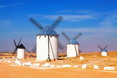 Group of windmills Stock Image
