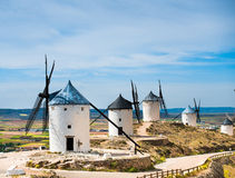 Group of windmills Stock Photos