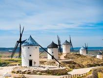 Group of windmills Stock Photos
