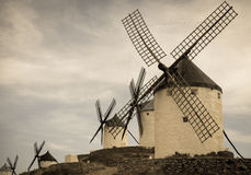 Group of windmills Royalty Free Stock Image