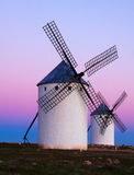 Group of  windmills at field Royalty Free Stock Photography