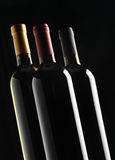 Group of wine bottles Stock Photo