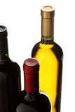 Group of wine bottles Stock Photos