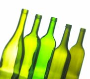 Group of wine bottles Royalty Free Stock Images