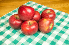 Group of Winesap apples Royalty Free Stock Images