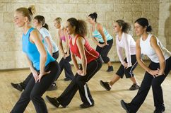 Group of woman at fitness club Stock Photos