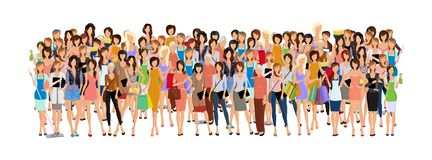 Group of woman Stock Photo