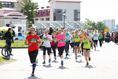 A group of woman marathon runners Royalty Free Stock Photo