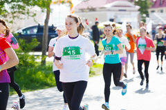 A group of woman marathon runners Royalty Free Stock Images