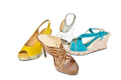 Group of  Woman's shoes Royalty Free Stock Photo