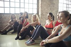 Group Of Woman In Yoga Class Royalty Free Stock Photography