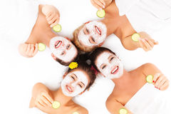 Group of womans in spa Royalty Free Stock Photos