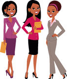 Group of Women. Illustration of a group of women, standing and smiling, professional looking. Cartoon characters stock illustration