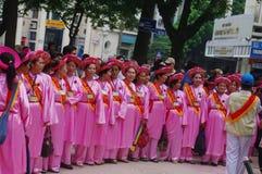Group of women in Ao Dai Royalty Free Stock Photos
