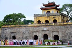 Group women in Ao Dai Stock Photo