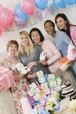 Group Of Women At Baby Shower royalty free stock photos