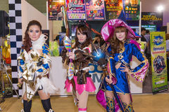Group of women cosplayer Stock Photography