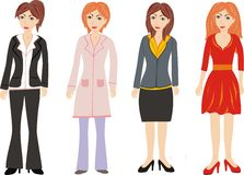 Group of  women. Group of women in different clothes Royalty Free Stock Image