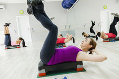 Group Of Women Doing Exercises Royalty Free Stock Photography