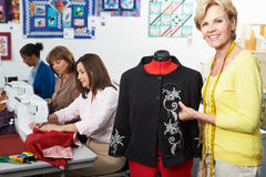 Group Of Women In Dress Making Class Stock Image
