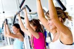 Group of women exercising Stock Photo
