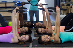 Group of women exercising with pilates ring Stock Photography