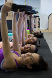 Group of women exercising with pilates ring Royalty Free Stock Photo