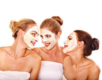 Group women with  facial mask. Stock Photography