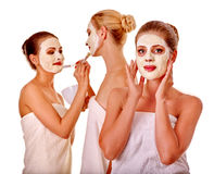Group women with  facial mask Stock Images