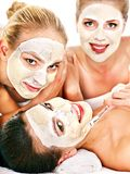 Group women with  facial mask. Stock Image