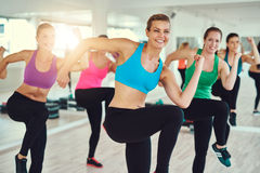 Group of women at a fitness class Royalty Free Stock Photography