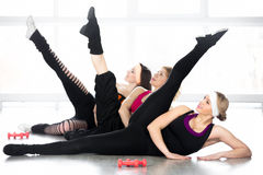 Group of women on fitness lesson Royalty Free Stock Images