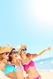 Group of women having fun on the beach Royalty Free Stock Photography