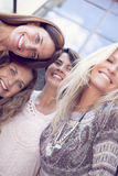 Group of women having fun. Group of women smiling and having fun outdoors Stock Photography