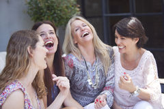 Group of women having fun stock photography