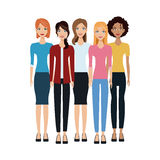 Group of women icon Stock Photography