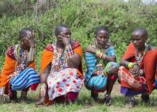 Group women of Maasai tribe Royalty Free Stock Photos