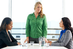 Group Of Women Meeting In Office Stock Image