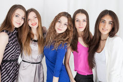 Group of women, mixed ages. Happy group of girl friends stock photography