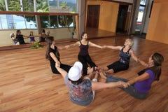 Group of women in a nia exercise class Stock Photos