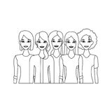 Group of women Royalty Free Stock Photos