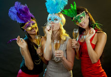 Group of women partying Royalty Free Stock Photo